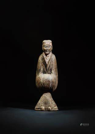 CHINESE WOOD CARVED FIGURINE