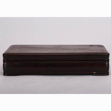 CHINESE ROSEWOOD CARVED COVER BOX