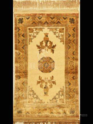 China silk Rug, approx. 60 years, pure naturalsilk