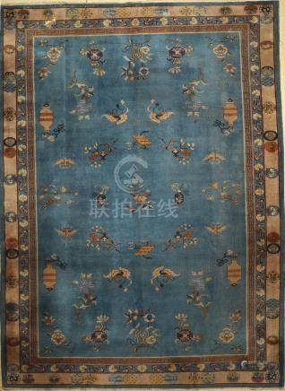 Beijing antique Carpet, China, around 1920, wool on
