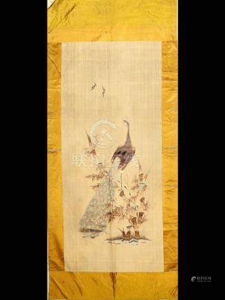 Antique silk embroidery, Japan, 19th century, silk