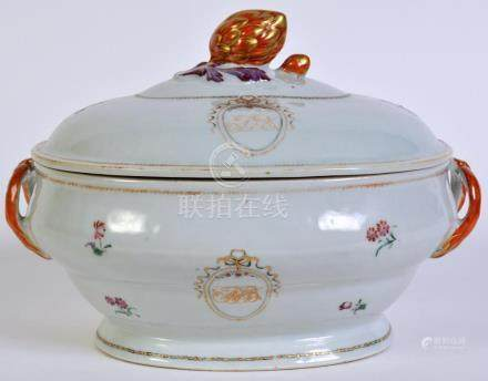 Early Chinese Export Lidded Tureen