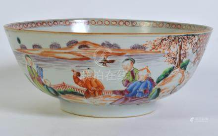 Chinese Export Painted Figural Bowl