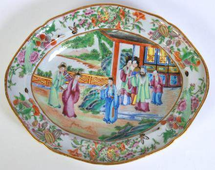 Chinese Rose Medallion Deep Serving Dish
