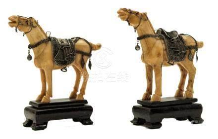 """Chinese Horses Size: 5"""" x 5"""""""