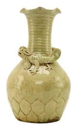 Chinese Stoneware Glazed Vase