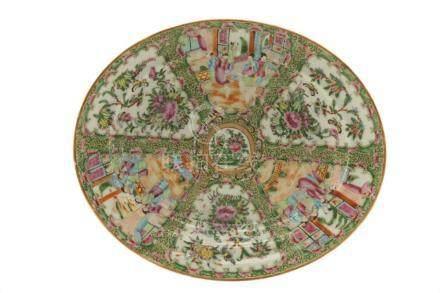Chinese Famille Rose Enamel Porcelain Oval Platter