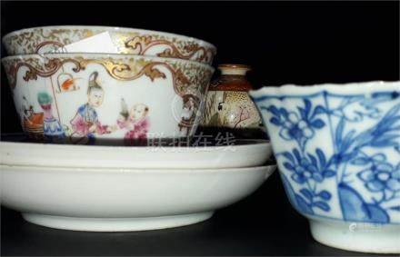 A collection of 18th century and later Chinese and other Oriental items, to include finely gilded