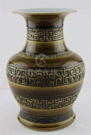 A 19th century Chinese Pottery Ming style archaic vase.