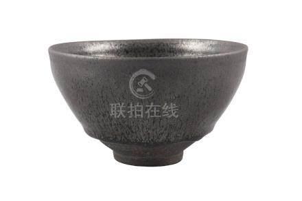 A Chinese yuteki tenmoku tea bowl, Jian kilns, Fujian province, Song dynasty, the deep, rounded
