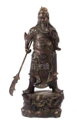Himmelswächter des SüdensChina oder Japan, 20. Jh., Bronze, vollplastische Darstellu