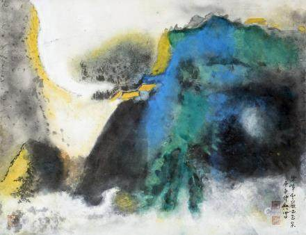 KUANG ZHONGYING (1964-), A CHINESE PAINTING OF LANDSCAPE