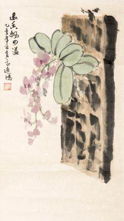 GAO YIHONG (1908-1982), A CHINESE PAINTING OF FLOWER