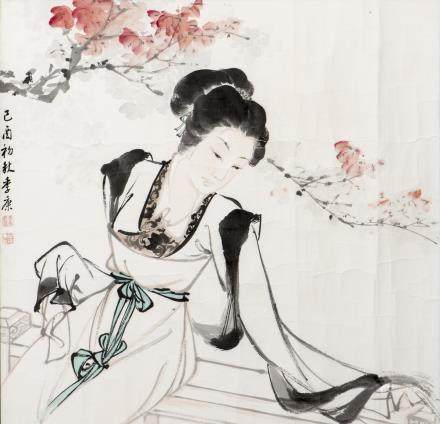 JI KANG (1911-2007), A CHINESE PAINTING OF LADY