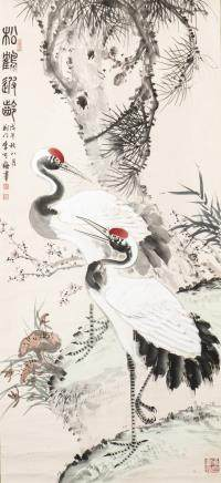 LI KEMEI (1929-), A CHINESE PAINTING OF CRANE