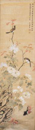 CHEN SHU (1660-1736), A CHINESE PAINTING OF FLOWER AND INSECT