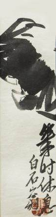 QI BAISHI (1864-1957), A CHINESE PAINTING OF CRABS