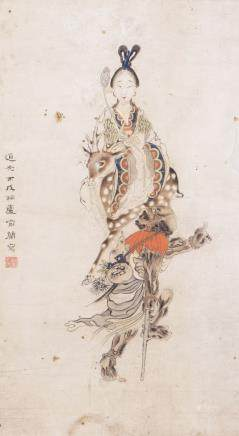 YU LAN (1724-1809), A CHINESE PAINITG OF IMMORTAL