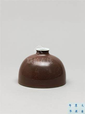 清康熙  豇豆红太白尊 A PEACHBLOOM-GLAZED BEEHIVE WATERPOT, 'TAIBAIZUN' KANGXI SIX-CHARACTER MARK AND OF THE PERIOD (1662-1722)