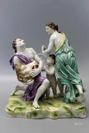 Antique Ludwigsburger Porcelain Figurine. German 1790's.