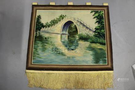 Decorative tapestry wall hanging rug.