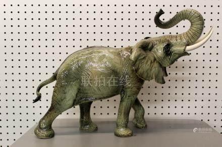 Antique Huge Vintage Goebel German Porcelain Elephant Safari  Figure.