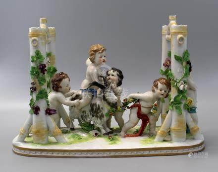 Antique Italian Capodimonte Porcelain Figural with
