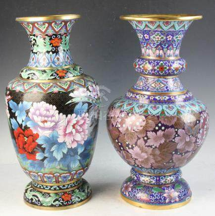 Two Chinese Cloisonn?? Vases