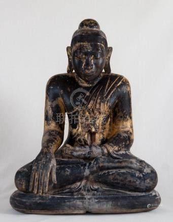 Buddha, Wood, Burma, 18th Century
