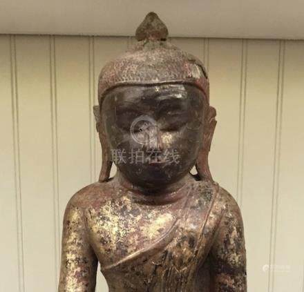 Buddha, Wood, Burma, 17th Century