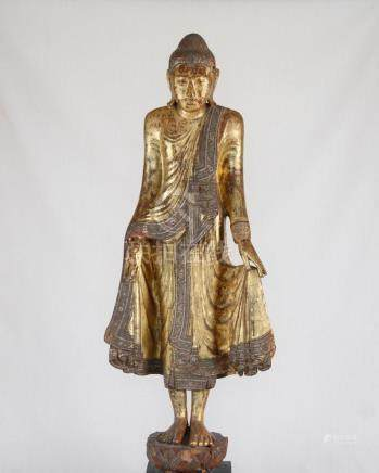 Buddha, Wood, Burma, 19th Century