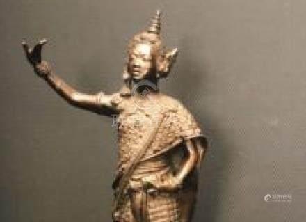 Thai Dancer, Bronze by K.M Ishikawa, Japan, c.