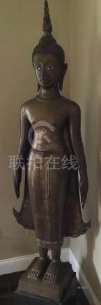 Buddha, Bronze, Laos, 17-19th Century