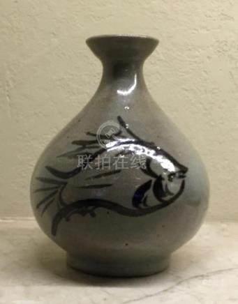 Buncheong Fish Vase, Korea, 15/16th Century