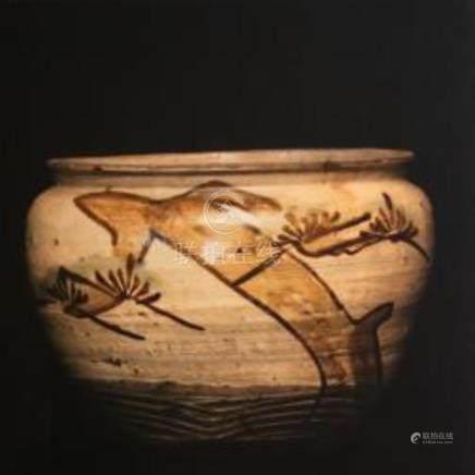 Bean Jar, Japan, Takeo Karatsu Stoneware, 17/18th