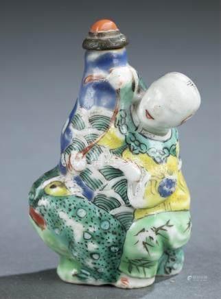 Figural porcelain snuff bottle.