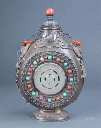 Mongolian table snuff bottle.