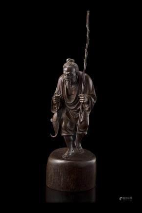 中國 二十世紀 木雕漁夫像