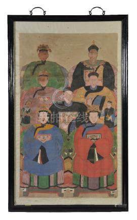 A large Chinese ancestor portrait