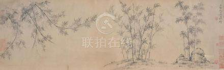 A Chinese painted hand scroll