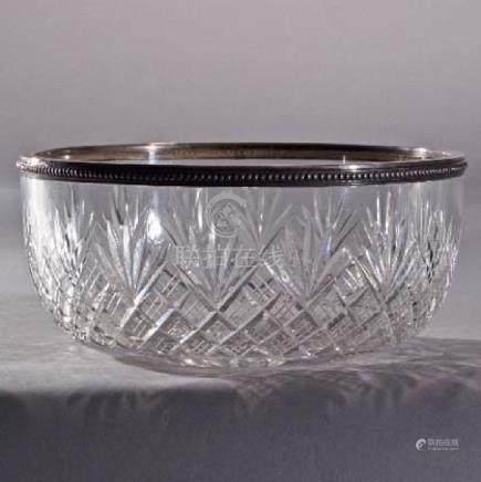 Crystal & Silver Art Deco Bowl