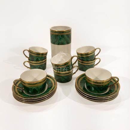 Christian Dior Tea Cup and Saucer Set with Vase