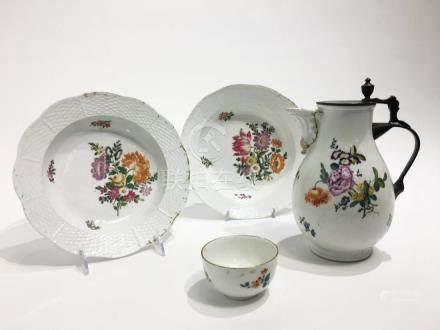 Four Pieces of Meissen Porcelain
