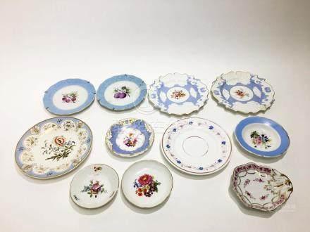 11 Vintage and Antique Porcelain Plates