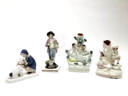 Four Porcelain Figurines