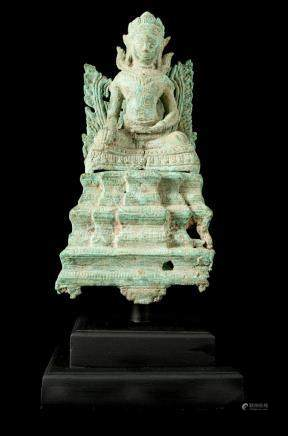 17th-18th Century Bayon Style Enthroned Buddha