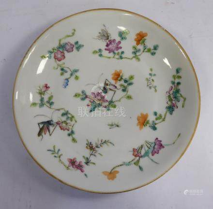 A late 19thC Chinese porcelain dish,