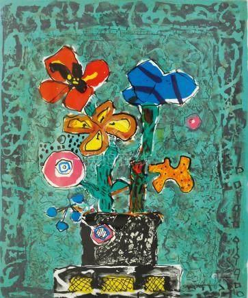 PAUL AIZIPIRI ,Flower in Vase