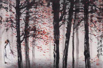 CHIANG MING-SHYAN, Composing Drawings in Autumn Feeling