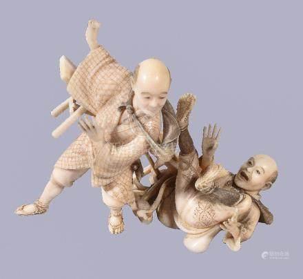 ϒ A Japanese Ivory Okimono